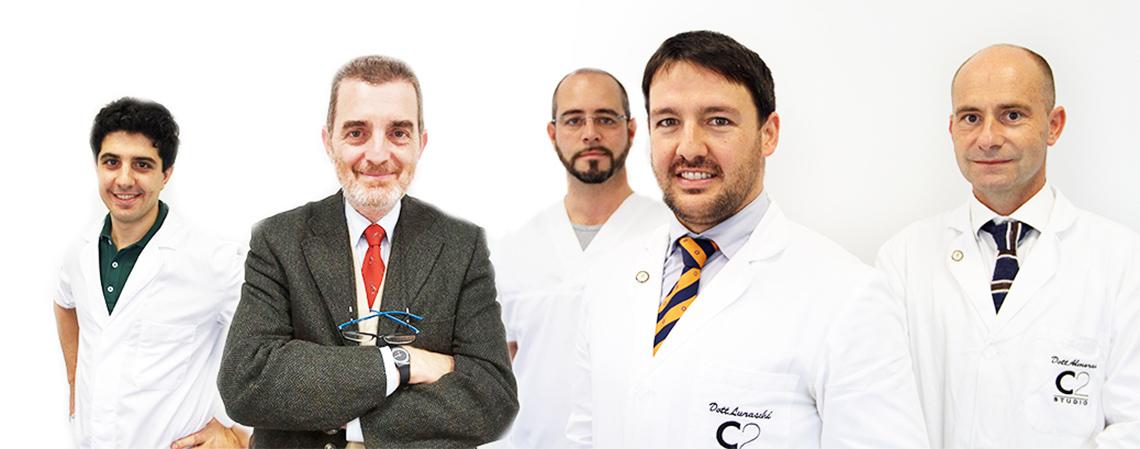 Lo staff dello studio C2 di chiropratica e massoterapia a Caronno Pertusella